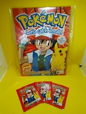 More details for pokemon merlin topps 1999 factory sealed album + 3 free packets wotc base