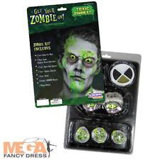 Deluxe Toxic Zombie Mask & Makeup Kit Fancy Dress Halloween Costume Accessory