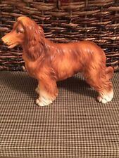 Vintage Lefton Afghan Hound Ceramic Porcelain Dog Figurine Japan 7328 Euc