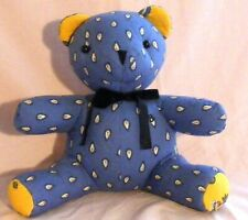 Vera Bradley Large Bear French Blue Beary/Yellow Excellent Condition