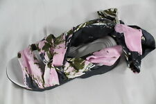 "DIOR - $1,020 NIB SILK PAPILLON ANKLE-STRAP ""BROOKLYN"" FLATS/SANDALS (SCORE!) 34"