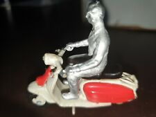 Lambretta scooter  1/32 with unpainted rider figure die cast not Britain's