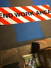 END WORK AREA Reflective Construction Sign WOW Mancave Item!