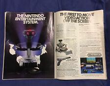 Nintendo Ent. System_R O B  / Robot__Original 1985 print AD / promo_early NES ad