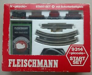 Fleischmann piccolo 9314 N Start Set A Lok Trafo + 3 Güterwagen  OVP