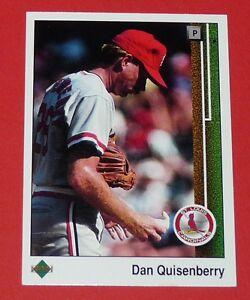 DAN QUISENBERRY ST LOUIS CARDINALS BASEBALL CARD UPPER DECK USA 1989