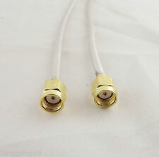 1x Rp-Sma Male To Rp-Sma Male Both Female Pin Jumper Pigtail Rf Rg402 Cable 12in