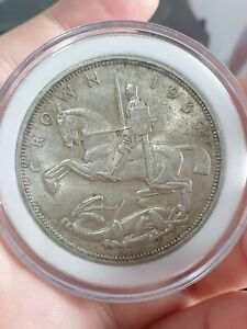 1927 United Kingdom 5 Shillings Silver Crown