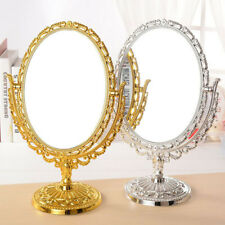 "11.4"" 360 Degree Swivel Antique Oval Vintage Desktop Stand Vanity MakeUp Mirror"