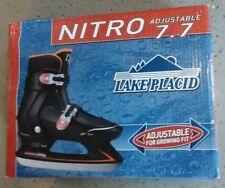New Lake Placid Nitro 7.7 Adjustable Ice Skate boys Size Medium fits 2-4 Hockey