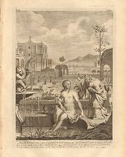 1770  ANTIQUE PRINT -BIBLE- AND THE WOMAN WAS VERY BEAUTIFUL TO LOOK UPON