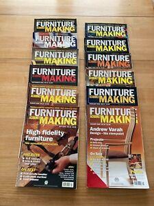 Furniture and Cabinetmaking magazines Jan-Dec 2000 Full Year