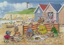 Vermenschlichte liebres-familia para acampar en la playa/Beach burlaron-jean Gilder
