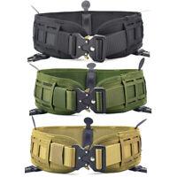 Tactical Molle Waist Belt Military Padded Patrol Belt Combat Battle Web Belt