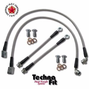 For 92 Dodge Shelby FRONT REAR Techna-Fit Stainless Steel Brake Lines DOD-100