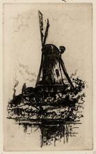 CEDRIC HODGSON Signed Etching THE MILL ON RIVER - 20TH CENTURY