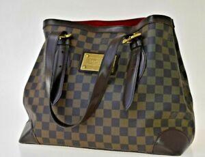 AUTH LOUIS VUITTON HAMPSTEAD MM SHOULDER BAG DAMIER LEATHER BROWN N51204 86JC231