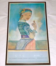 "Vintage Mpls Children's Theater Company 1980-81 Framed 33"" Poster ~ Girl w Acorn"