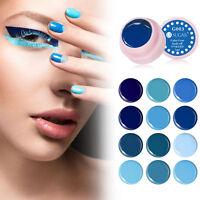 Soak Off UV Gellack Blaue Serie Farbe Coat UV/LED Gel Nagellack Maniküre 5ml