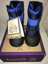 Brand New Kamik Snowbug2 Boys' Winter Snow Boots-Navy - US Size 7 - Built in USA