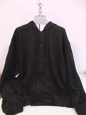 New Boulder Creek Zippered Hoodie Black 3 XL Tall Jacket