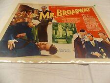 "MR. BROADWAY(1933)ED SULLIVAN ORIGINAL 22""BY28"" POSTER"