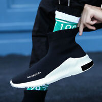 Men Running Sneakers Sports Sock Shoes Outdoor Breathable Athletic Fashion