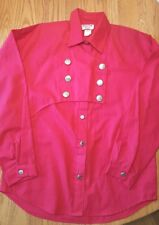 Wagon Wheel USA Red Blouse Large Star Buttons Western Rodeo Cowgirl Costume VTG