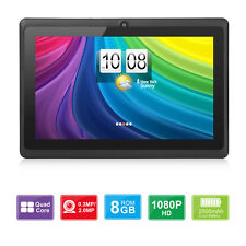 7'' Android 4.4 8GB HD Tablet PC Quad-Core 1.3GHz Dual Camera WiFi Kid Xmas Gift