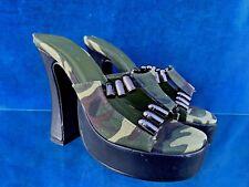 ELLIE Camouflage & Bullets Machine Gun SEXY High Heels Pump Shoes Sz 6 👣b10