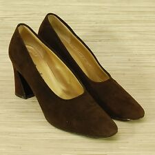 Yves Saint Laurent Brown Suede Classic Pumps Women's Size 6.5 M Shoes Italy YSL
