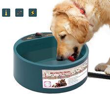 EU Plug Electric Heated Drinking Bowl Dog Pets Heated Food Water Dish Safe Bowl