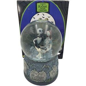 NECA Nightmare Before Christmas Jack And Sally Snow Globe Water Ball Tim Burton