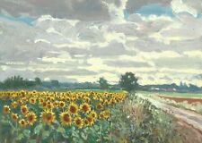 "ORIGINAL MICHAEL RICHARDSON ""Sunflowers Provence"" France Tournesol OIL PAINTING"