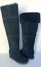UGG CLASSIC FEMME TALL OVER THE KNEE BLACK WEDGE BOOTS US 10 / EU 41 / UK 8