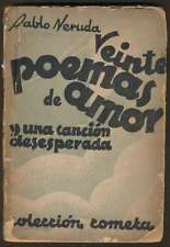 Pablo Neruda Book 20 Poemas Amor Cancion Desesperada 1940