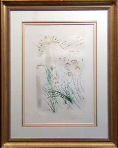 """Salvador Dali, from Song of Songs of Solomon """"I Am My Beloved"""" Hand Signed Art"""