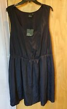 ASOS Curve plain dark blue light flowing lined dress UK Size 20 BNWT