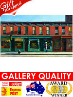 NEW Edward Hopper, Early Sunday Morning, Barber 1930 Giclee Art Print or Canvas