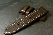 26mm 26x26 leather strap Coffee brown 80/135 - ZTRITIUM Vintage for Panerai