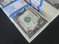 100 $1 Bills New One Dollar Money L/A Pack 2017 Collectible Cash Currency