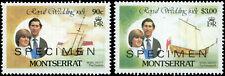 Montserrat Scott #466 - #467 Complete Set of 2 SPECIMEN Overprints MNH