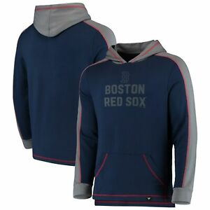 Boston Red Sox Fanatics Branded Iconic Colorblock Pullover Hoodie - Navy/Gray