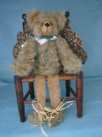 "ARTIST HAND MADE TEDDY BEAR FRANCY GORDON 13"" BEARKEY ~ CHAIR SHELF MANTLE BEAR"