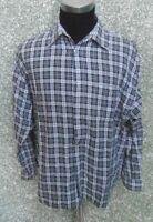 180 E86 SIGNUM Hemd Gr L grau weiß schwarz kariert langarm Kentkragen Herrenhemd