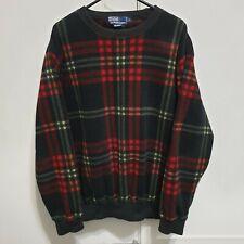 Vintage Polo Ralph Lauren Flannel Tartan Crewneck Sweatshirt Size Large