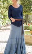 Soft Surroundings Long Maxi Soft Knit Seamed Sz XL Tall $129 NEW Blue Chambray