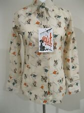 NEW OLD STOCK VINTAGE DECO 20s PRINT NOVELTY SHIRT BLOUSE