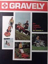 Gravely C-7.6 C-8 C-10A 450 424 Lawn Garden Tractor Color Sales Brochure Manual