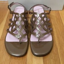 Taryn Rose 'Kelvo' Cut Out Patent Leather Women's Sandals - Size 10M $229 Retail